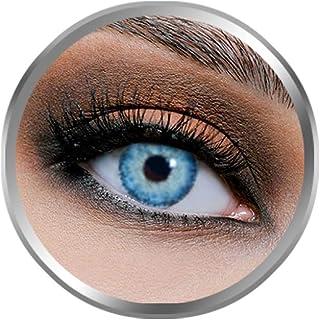 Flex Blue Contact Lenses, Original Unisex FlexEyes Cosmetic Contact Lenses, 6 Months Disposable, Blue Color