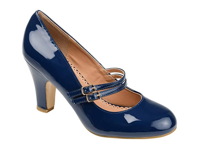 Vintage Shoes, Vintage Style Shoes Journee Collection Wendy-09-1 Pump Navy Womens Shoes $42.99 AT vintagedancer.com