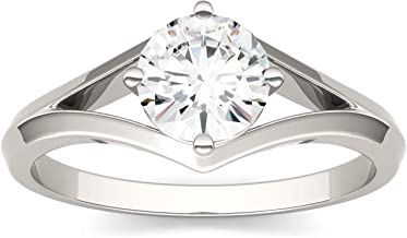 Forever One 6.0mm Round Moissanite Solitaire Engagement Ring, 0.80ct DEW (G-H-I)