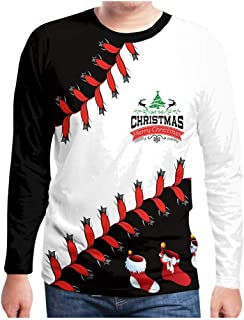 Men's Crew Neck Funny Xmas Pullover Ugly Christmas Sweater Long Sleeve Christmas Reindeer Sweaters for Men