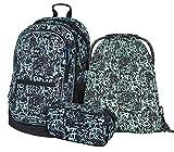 Schulrucksack Set Jungen 3 Teilig, Schultasche ab 3. Klasse, Grundschule Ranzen mit Brustgurt, Ergonomischer Schulranzen (Graffito)