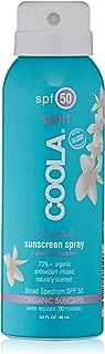 Coola Suncare Organic Sunscreen Body Spray with SPF 50, 3 Fl Oz