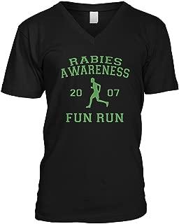 Men's The Office Rabies Awareness Fun Run 2007 V-Neck T-Shirt