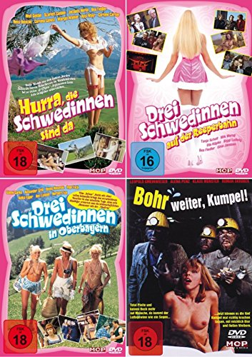 Die SCHWEDINNEN COLLECTION Hurra die Schwedinnen sind da + Auf der Reeperbahn + In Oberbayern + Bonus: BOHR WEITER KUMPEL 4 DVD Edition