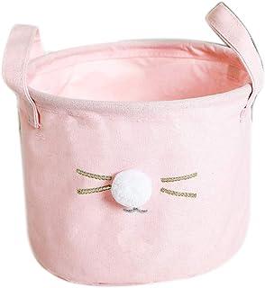Scrox 1 pcs Paniers de Rangement Boule de Cheveux Chat Boîtes de Rangement Panier à Linge en Tissu pour Produits pour bébé...