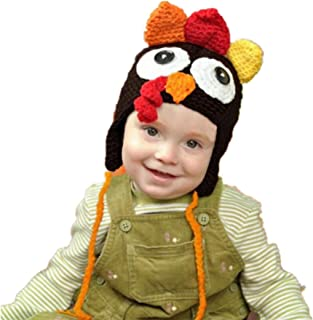 Highpot Baby Boys Girls Crochet Turkey Hat Baby's Photography Props Chicken Cap
