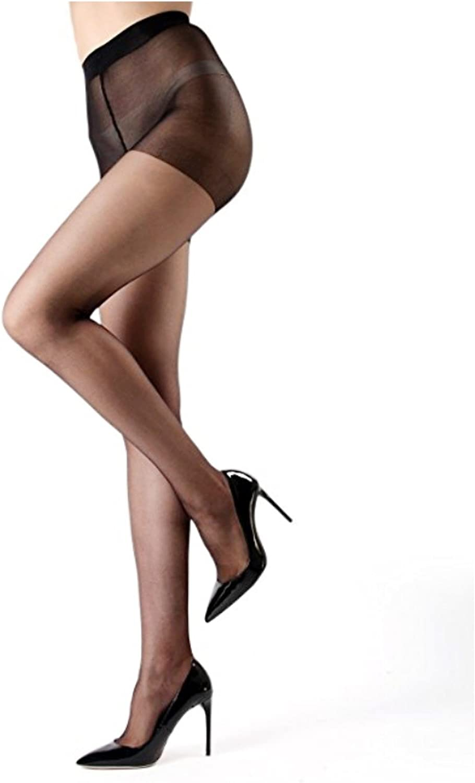Blank&Black Women's Regular Ultra Sheer Toe Control Top Pantyhose