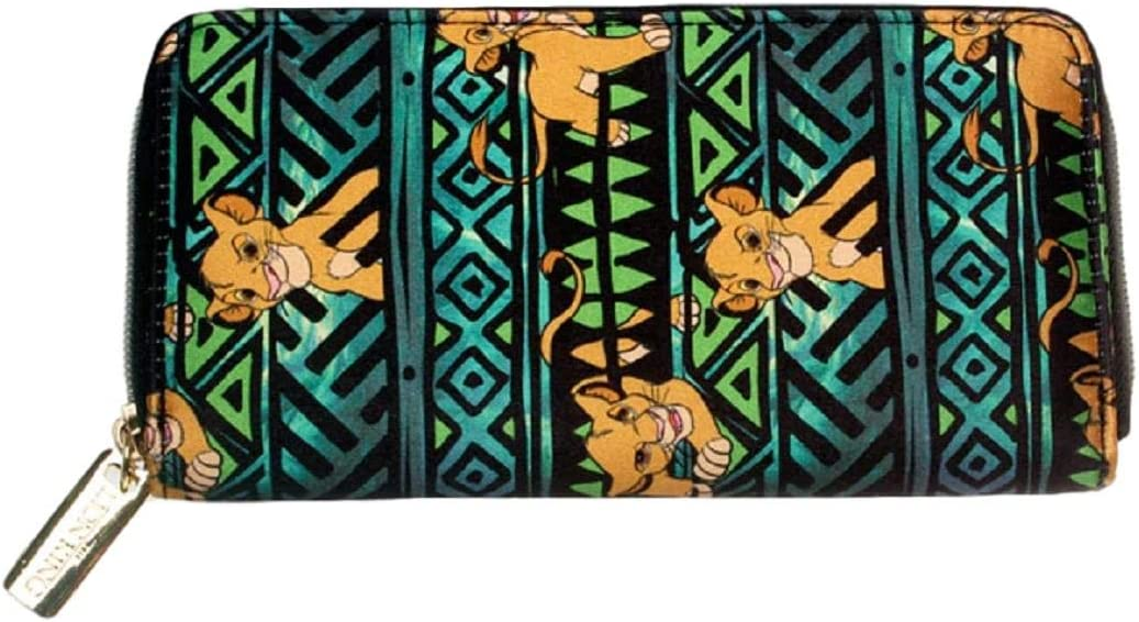 Lion King SEAL limited In stock product Simba All Over Print Hand Clutch Zip Around Purse Wall