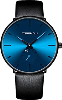 Mens Watches Ultra-Thin Minimalist Waterproof-Fashion...