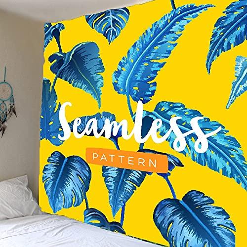 Tapiz de planta verde hoja de palmera tropical colgante de pared tapiz de flores grandes arte tapiz de tela de pared tapiz de fondo A2 150x200cm