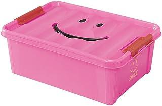 SPICE OF LIFE(スパイス) 収納ケース スマイルボックス ピンク Sサイズ 約40×28×15cm ポリプロピレン ふた付き スタッキング可 SFPT1510PK