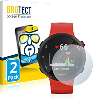 BROTECT 2x Schermbeschermer compatibel met Garmin Forerunner 45 Screen protector transparant