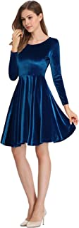 Leadingstar Women's Velvet Holiday Party Gowns Maxi Dress