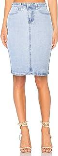 Women's Denim Distressed Stretch Skirt, Sizes 6-14