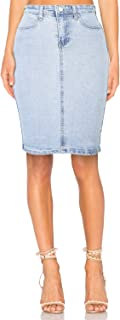 Women's Denim Distressed Stretch Skirt, Sizes 6-14
