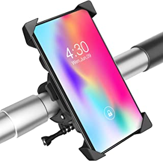 Bike Phone Mount, Anti-Shake Bicycle Cell Phone Holder, Adjustable Phone Mount Holder Stand Cradle Clamp Compatible with A...