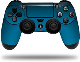 Vinyl Skin Wrap for Sony PS4 Dualshock Controller Smooth Fades Neon Blue Black (CONTROLLER NOT INCLUDED)