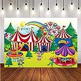 Fondos fotográficos Fondo de fotografía de Vinilo Carpa de Circo Rueda Grande decoración de cumpleaños para niños para Foto de estudio-8x6FT