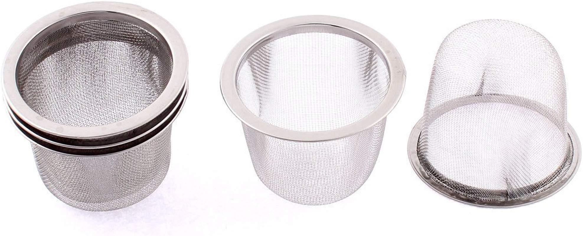 Xigeapg Stainless Steel Home Mesh Tea Infuser Strainer Basket 62mm Dia 5 Pcs