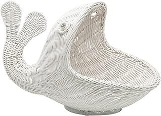 fish shaped wicker basket