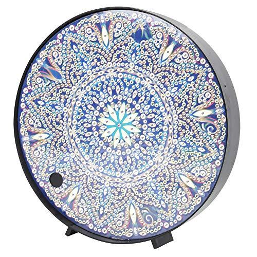 Kit de pintura de diamante Mandala con luces de noche LED Lámpara de mesita de noche de pintura de diamante DIY para decoración de vacaciones(ZXD020)