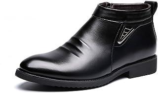 Sunny&Baby Hiver Vlevet Retro Hommes Bottes Confortable Zipper Casual Chaussures de Neige en Cuir pour Messieurs Résistant...