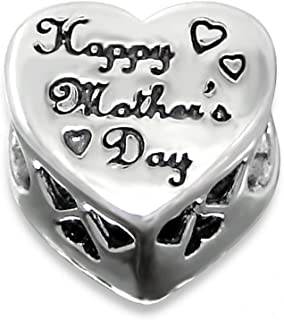 Sterling Silver Happy Mother's Day Bead