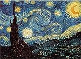 Fumoi Puzzle de 1000 Piezas para Adultos - Noche Estrellada por Vincent Van Gogh Rompecabezas de 1000 Piezas para Adultos Rompecabezas de Piso