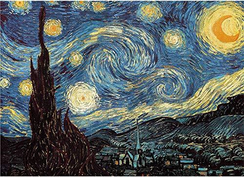 Fumoi Puzzle da 1000 Pezzi per Adulti | Puzzle Notte Stellata di Vincent Van Gogh | Jigsaw Puzzle Puzzle da 1000 Pezzi per Adulti