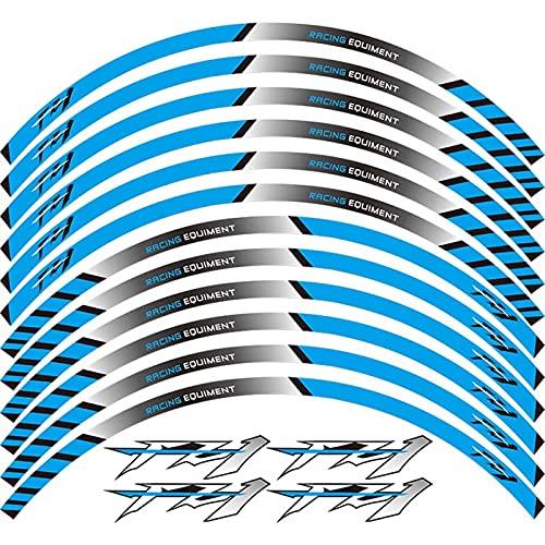 12 PCS Ajuste de la Rueda de la Rueda de la Rueda de la Rueda de la Raya llanta Reflectante para Yamaha FZ1 FZ6 FZ-07 FZ8 FZ-09 FZ-10 FZS1000 (Color : 19)