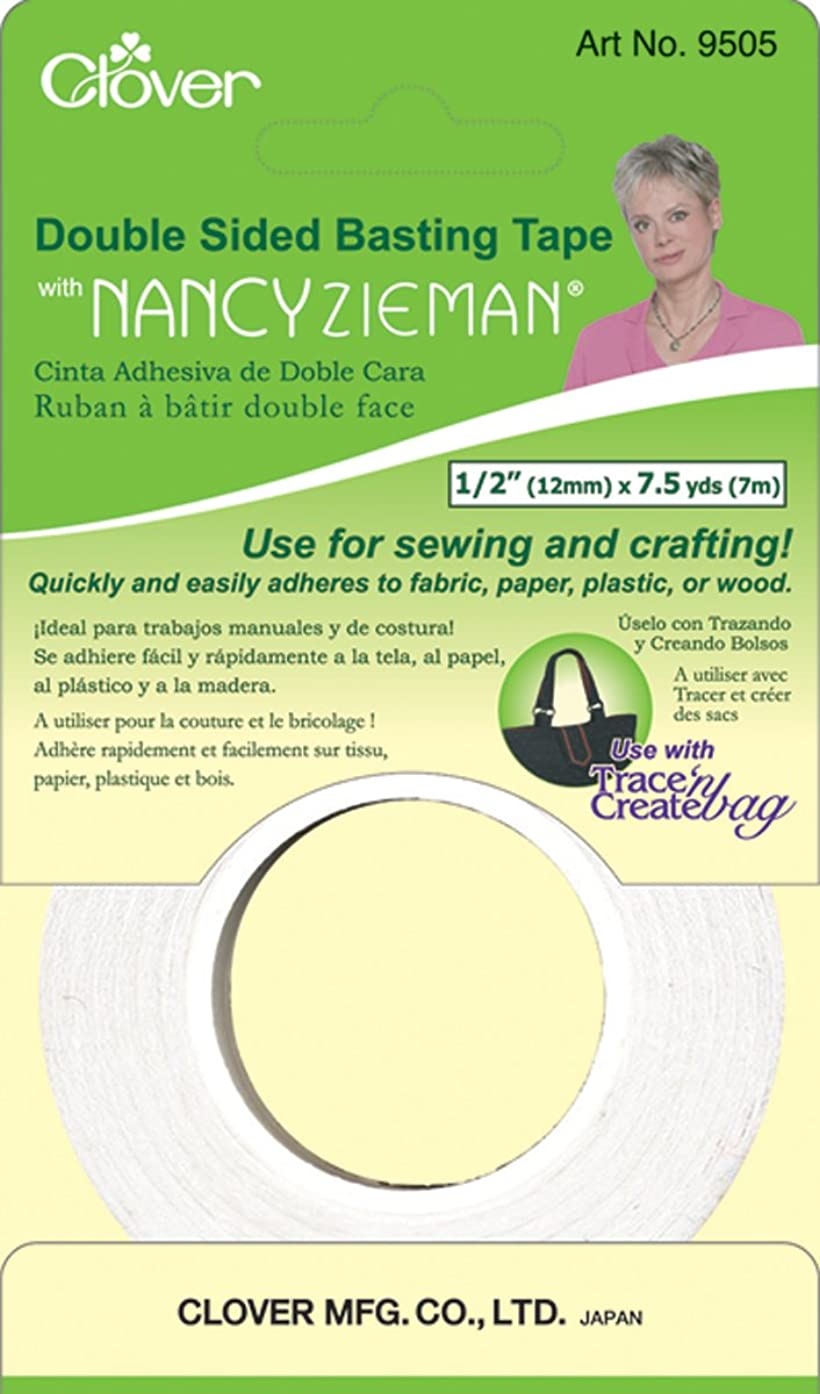 Clover 9505 Double Sided Basting Tape with Nancy Zieman, 1/2-Inch by 7.5 yd.