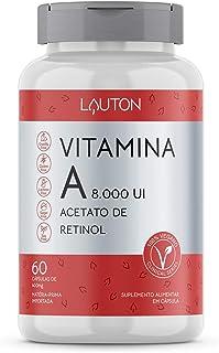 Vitamina A 8000ui Acetato De Retinol - 60 Caps Vegano Lauton