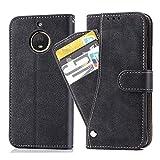 Ausiwsh Moto G5s Hülle,Lederhüllen klappbar Schutzhülle Hülle Mit Kartenfach Magnet Matt Leder Klapphülle Ständer Stand Dünn Stoßfest Staubschutz Handyhüllen für Motorola Moto G5s Hüllen Schwarz