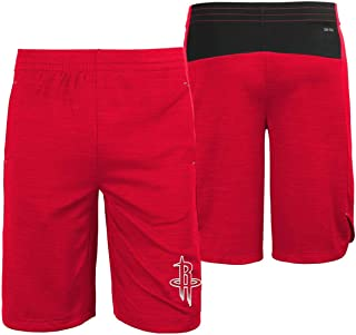 Genuine Stuff Houston Rockets Youth NBA Performance Free Throw Shorts - Red,