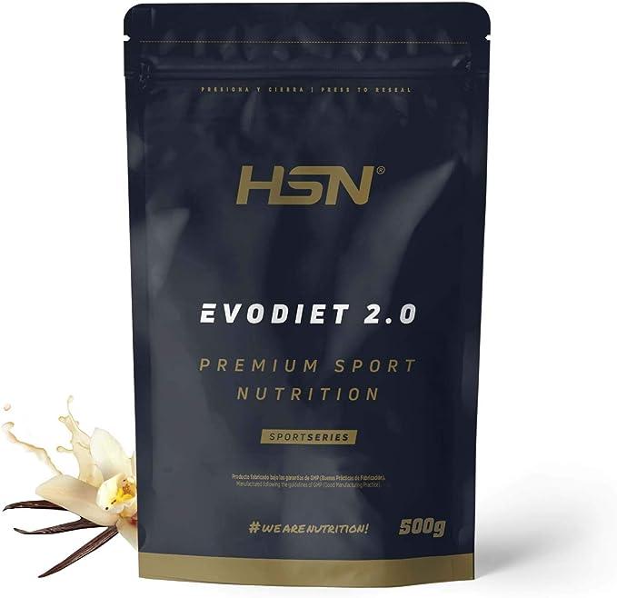 Evodiet de HSN | Batido de Proteínas para Adelgazar | con Té Verde + Carnitina + Efecto Termogénico + Quemagrasas + Mantener Masa Muscular | ...
