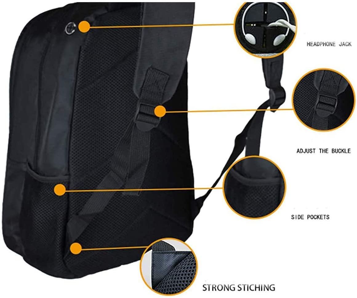 Smash Bros Travel Backpack Rucksack Schoolbag Cosplay Halloween