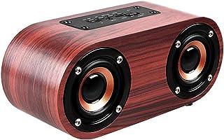$49 » LORIEL Wooden Bluetooth 4.2 Speaker, 10M Wireless Range Speaker, Built-in Microphone, Support Android/iOS Phone/Tablet/Lap...