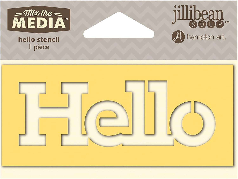 Mix The Media Word Stencil 4 -Hello B00OY0Z18I B00OY0Z18I B00OY0Z18I       Angemessene Lieferung und pünktliche Lieferung  058cf5