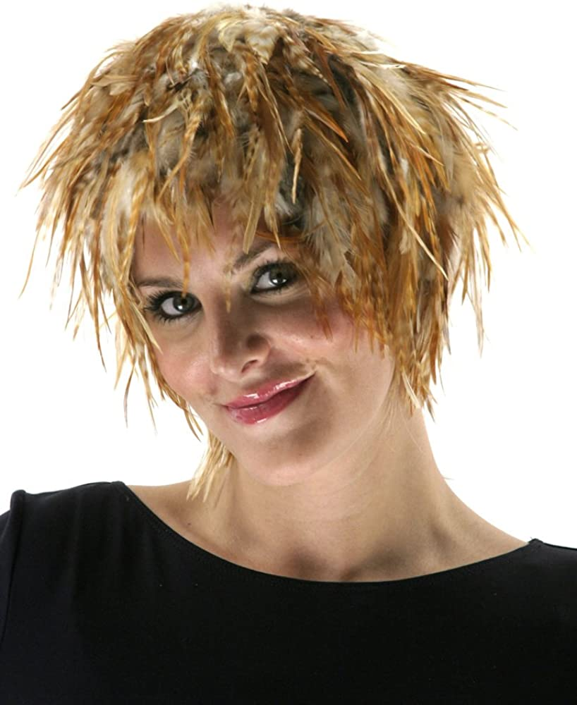 ZUCKER trend rank Feather TM - Hackle Natura Red Great interest Natural Wig Chinchilla