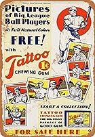 ブリキ看板1933タトゥーガムと野球グッズ壁アート