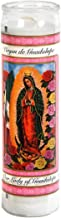 Our Lady of Guadalupe Glass Prayer Candles, 8