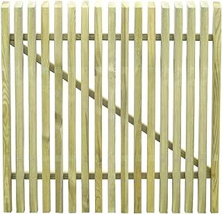 300x100cm UnfadeMemory Puerta Doble Madera Jardin R/ústico,Entrada para Valla de Jard/ín Patio o Terraza,Madera de Pino FSC Verde