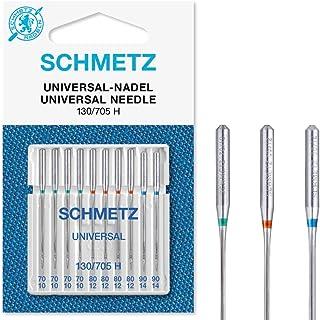 SCHMETZ Lot de 10 Aiguilles pour Machine à Coudre universelles (régulière/Standard), Tailles Assorties 70/10, 80/12 et 90/14