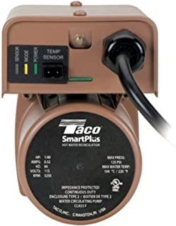 Taco 006-IQST4 Bronze Smart Plus 3/4-Inch SS FPT with Line Cord, Electronic Smart Timer and Internal Check
