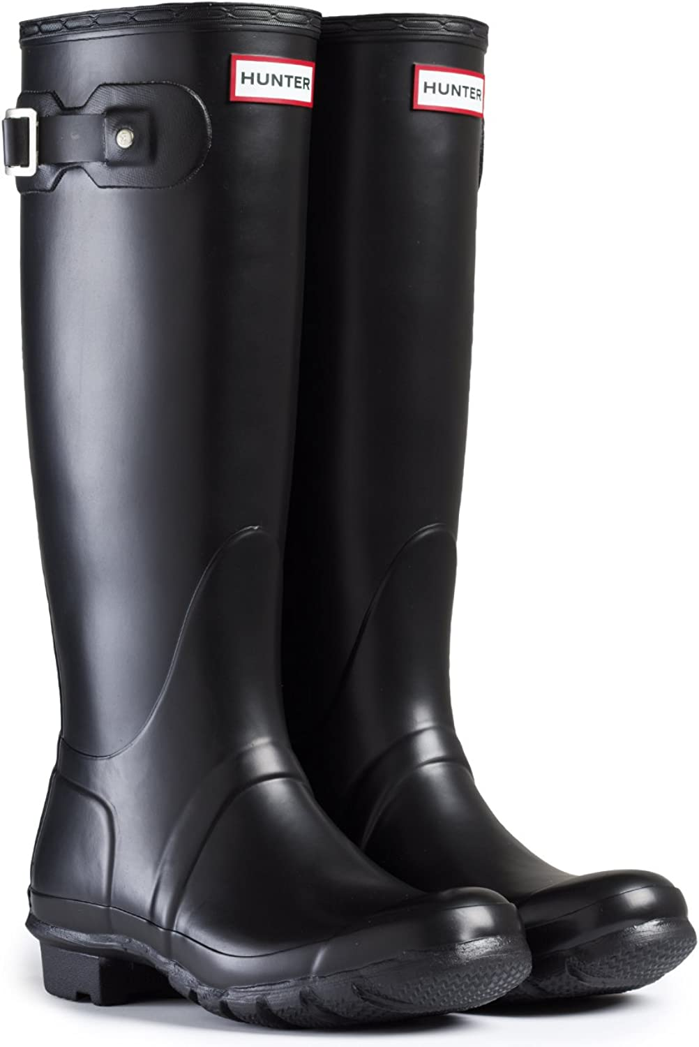Hunter Women's Original Tall Rain Boot (9 M US, Black Matt)