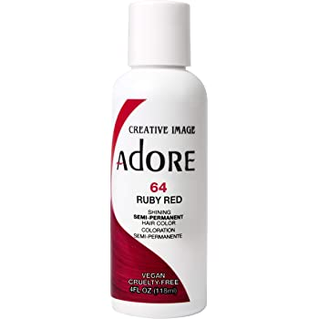 Adore Semi-Permanent Haircolor #064 Ruby Red 4 Ounce (118ml) (2 Pack)