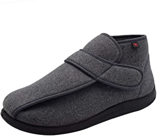 b6fc71cf3d7 W Lesvago Men s High-top Extra Wide Width Diabetic Slippers - Arthritis  Edema Footwear MS6009M