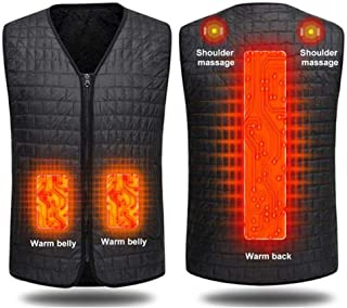 Men & Women Washable Heated Clothes Vest, USB Rechargeable Heating Body Warmer Gilet With 3 Temperature For Warm Care On T...
