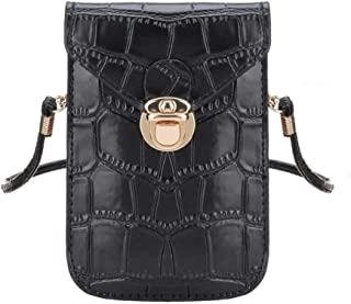 Black mini phone cultch shoulder Bag for traveling purse small pockets for men cellphone wallet cross body