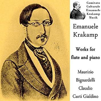 Emanuele Krakamp: Works for Flute and Piano